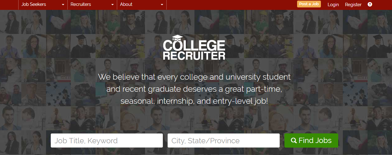 College Recruiter - Best Freelancing Websites