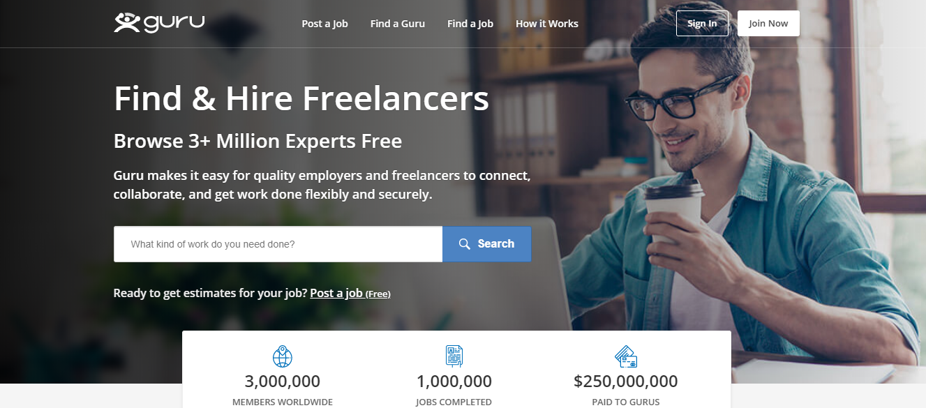 Guru - Best Freelancing Websites