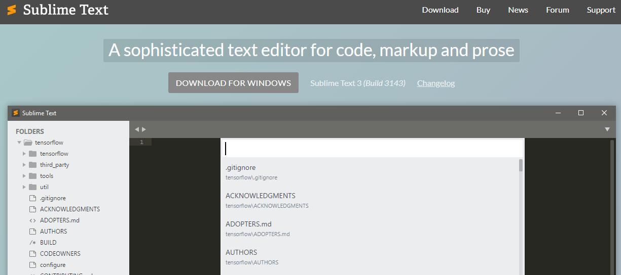 Sublime Text 2- Best Web Design Software