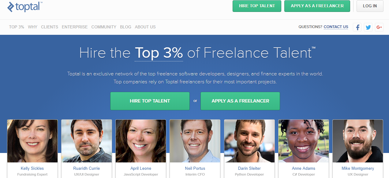 Toptal - Best Freelancing Websites