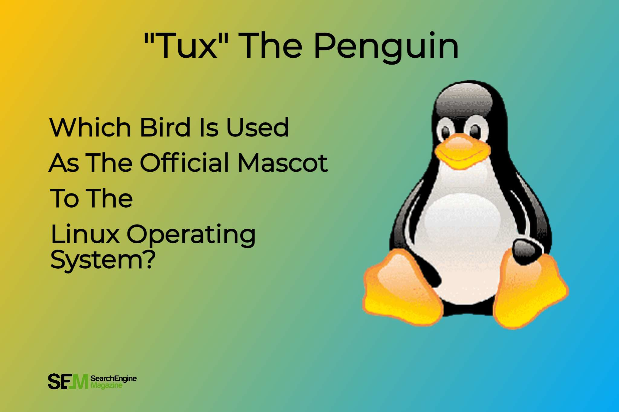 which bird is used as the official mascot to the Linux operating system_