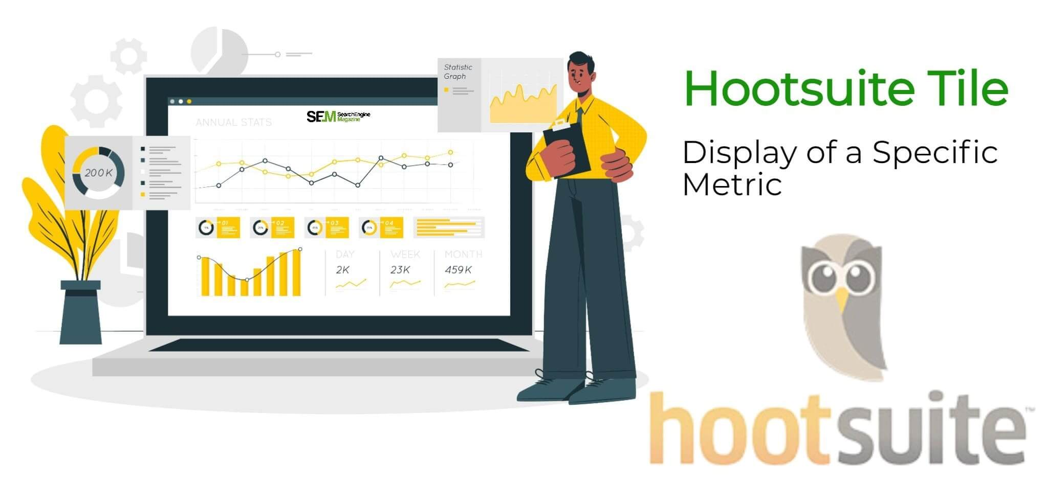 within a Hootsuite analytics report, you can add a tile, which is